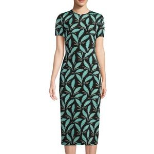 DIANE VON FURSTENBERG DVF palm print midi dress!